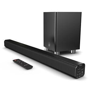 Majority 150W TV Sound Bar Wireless Subwoofer with Bluetooth Optical Audio