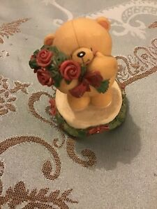 Hallmark Bear With Roses Figure