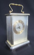 Working Hamilton Quartz Carriage Desk Clock West Germany Goldtone