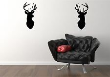 pair of stag heads   sticker vinyl decal mural