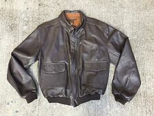 USAF A-2 Leather Flight Jacket MFG Steve McColgan Size 46 Army Air Forces