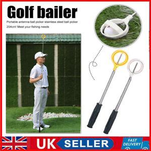 Telescopic Golf Ball Pick-Up Retriever Picker Automatic Locking Scoop Portable