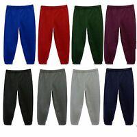 Boys Girls Jogging Bottoms Trousers Kids School PE Fleece Tracksuit Age 3-14 Yrs