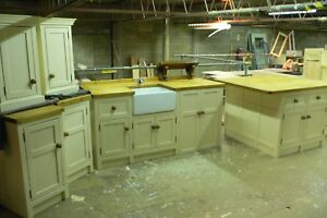 Solid Pine Shaker Style Kitchen Package Deal Handpainted In Your Colour Choice