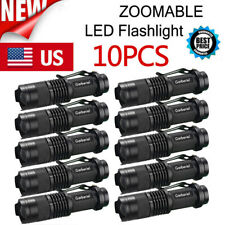 Lot Police 15000LM ZOOM LED Flashlight Torch Adjustable Focus Light Lamp Camping