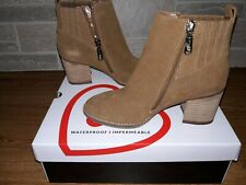 Blondo NOA Waterproof Ankle Boot -B6644-235, Camel Suede, Size 6.5M or 7.5M