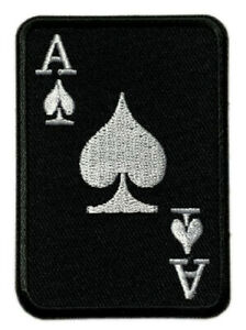 Ace of Spades Death Card Patch [Iron on Sew on -3.0 X 3.0 inch -SA12]