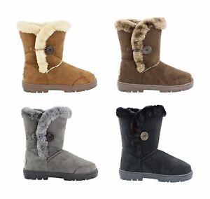 Womens Ella Nina Faux Sheepskin Look Fur Lined Low Warm Boots