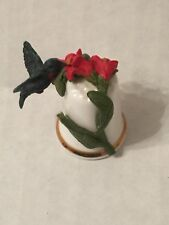 Sterling Crafted in England Classic Thimble with a Flying Pewter Bird SALE