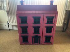 🌸 Classic cuatro pisos de madera casa de muñecas con muebles con personas 🌸