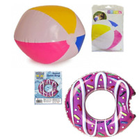 """24"""" Inflatable Panel Blow Up Beach Ball Holiday Party Swim Ring Garden Kids Play"""