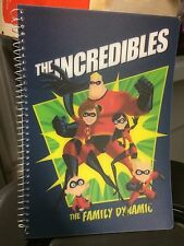 """NEW DISNEY/PIXAR THE INCREDIBLES BLUE Family Dynamic LINED 7""""x 10"""" SPIRAL"""