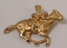 Race Horse and Jockey 14k Gold Pendent