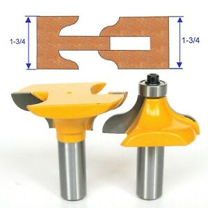 2 pc 1/2 SH Ogee Entry Door For Long Tenons Router Bit S