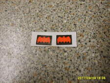 CORGI 267 BATMOBILE  DOOR STICKER SET  NEW REPLACEMENTS  X2  AS  ORIGINALS NICE