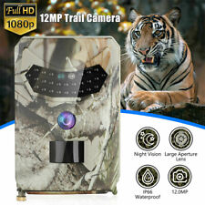 1080P HD Hunting Trail Camera Outdoor Wildlife 12MP Scouting Cam Night Vision