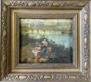 Angelo quadro olio immagine immagini quadri Ölbilder con cornice 27x32cm-g16128