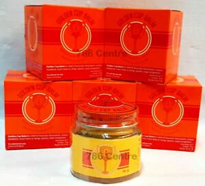 Original GOLDEN CUP BALM 50g Ointment Soothing Insect Bite Burn Strain Massage