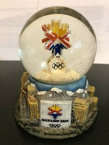 Salt Lake City 2002 Olympic Winter Games Snow Globe