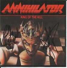 ANNIHILATOR   King of the Kill  Japan Promo CD Signed Autographed RARE