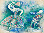 "Vintage French Art Mark Shagal CANVAS PRINT La Dance painting poster 24""X16"""