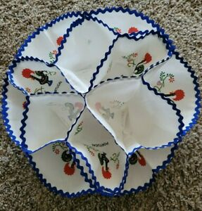 Vintage Imported from Portugal Fabric Bread Bun Warmer Holder snaps Rooster NWOT