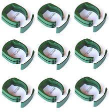 9 x 60 mm Pfahl-Schelle für Tor-Pfosten Gartentor Schweißdraht Gartengitter grün