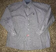 Panhandle Slim Black & Gray Long Sleeve Mens Shirt XL