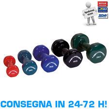 Manubrio in Vinile Rosso 1 kg High Power Manubrietto Liscio Palestra Fitness
