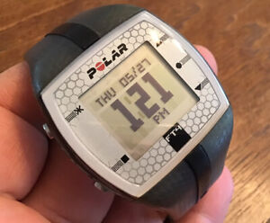 Polar FT4 Heart Rate Watch Only Gray & Black Band New Battery