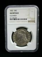 1832 Capped Bust Half Dollar 50c NGC AU Details Nice 186 Years Old US Coin #0003