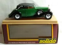 SOLIDO AGE D'OR DIECAST 1:43 SCALE 1939 ROLLS ROYCE SOFT TOP GREEN / BLACK - 46