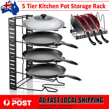 Kitchen Storage Racks Pot Frying Pan Cookware Pantry Cutting Boards Holder Stand