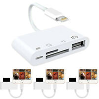 4 in 1 Adapter To TF SD Card Reader Camera USB OTG Adapter For Ipad Pro