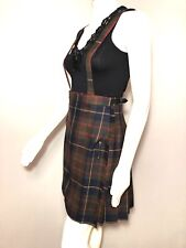 Pitlochry Wrap Skirt Kilt Wool Plaid Pleat Suspender Jumper Women 0 2 XS Girl 12