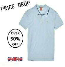 Men's Scotch & Soda Smart Casual Blue Polo T-Shirt Clearance SALE RRP £55