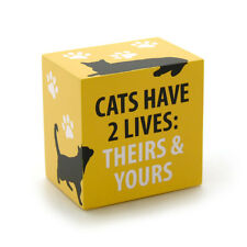 Cats Have 2 Lives decorative plaque block by Enesco Our Name is Mud 4035979