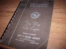 Original Pratt & Whitney Twin Wasp C4 Engine Operator's Handbook