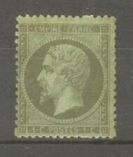 "FRANCE STAMP TIMBRE N° 19 "" NAPOLEON III 1c OLIVE "" NEUF x A VOIR"