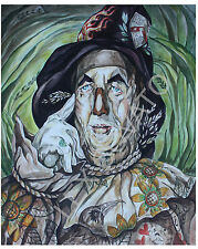LEX outsider neo pop SuRReal fantasy Print  Wizard OZ ScaRECROW TaTTOOEd lowbrow