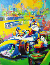 "Malcolm Farley Original Painting on Canvas ""Team Corona"" Formula Racing Kart COA"