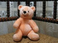 Woodland Bear UK Peach Colored Masked Teddy Bear Very Rare