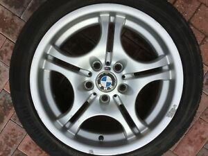 "BMW 3 SERIES E46 17"" M SPORT STYLE 68 REAR ALLOY WHEEL & TYRE 8.5J 2229135 #4"