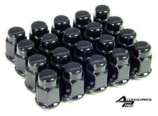 20 Pc  BLACK FORD 1964-2014 MUSTANG BULGE ACORN LUG NUTS 1/2 # AP-1904BK