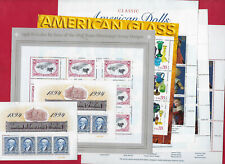 13 US postage stamp unused MINT sheets, most better, Face Value $73.15