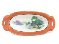 Noritake Oblong Relish Dish Hand Painted Made in Japan 8.5 Inches Long