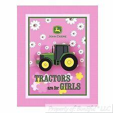 BonEful FABRIC Fleece Blanket Quilt LARGE John Deere Farm Tractor Baby Girl Sale