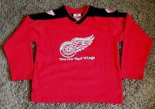 DETROIT RED WINGS NHL # 17 HULL HOCKEY JERSEY BY WINNING COAL SIZE YOUTH M 10/12
