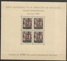 Barcelona Edifil NE29/NE30** Mnh  Hojitas Navidad 1945  Serie completa   NL1212