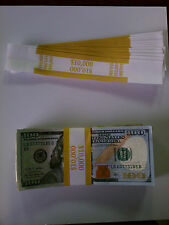 2,000 Self-Sealing Currency Bands - $10,000 Denomination - Straps Money 100's